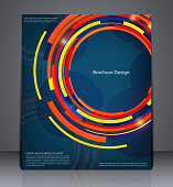 Abstract digital business brochure flyer design in A4 size.