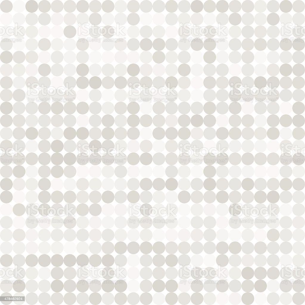 Abstract digital grey circles on white background seamless patte vector art illustration