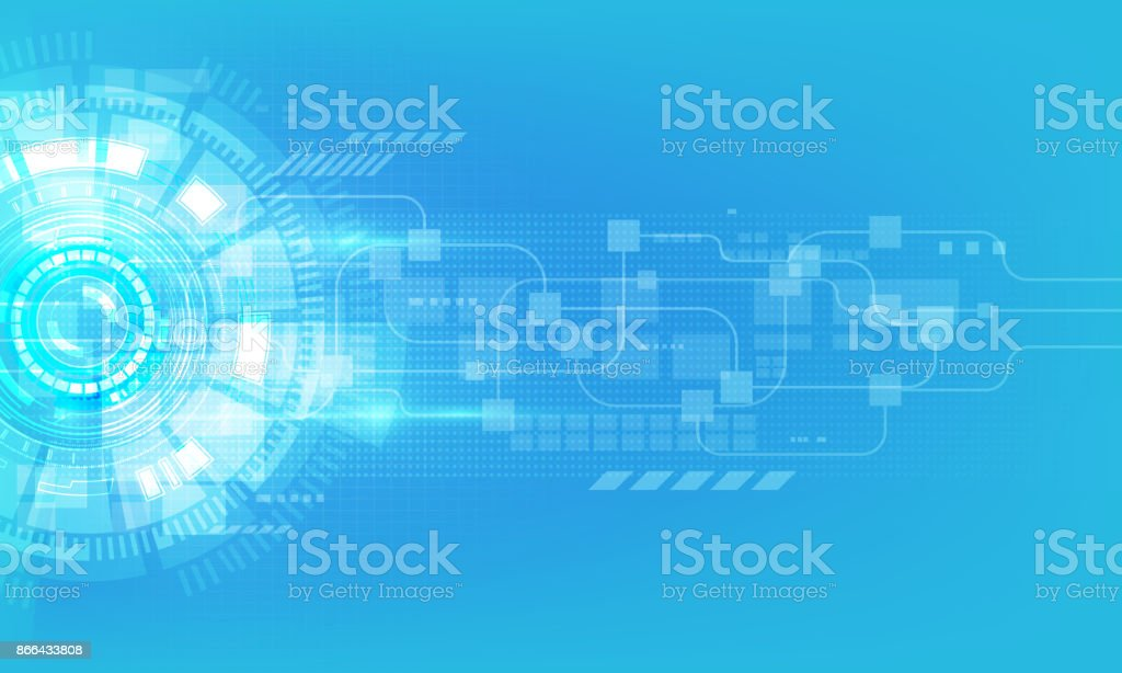 abstrato digital Oi tecnologia tecnologia inovação conceito vector base - ilustração de arte em vetor
