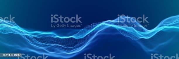 抽象デジタル風景や流れる粒子と波 - 3Dのベクターアート素材や画像を多数ご用意