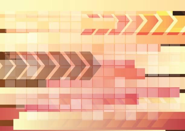 abstrakte digitale hellen hintergrund mit pfeile und linien - straßenschilder stock-grafiken, -clipart, -cartoons und -symbole