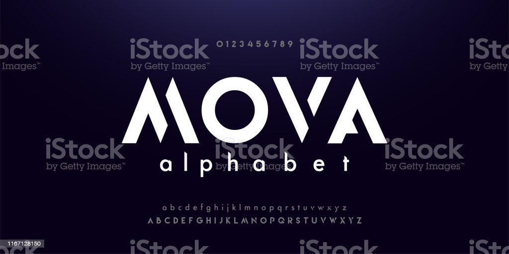 Abstract digital modern alphabet fonts. Typography technology electronic dance music future creative font. vector illustraion Abstract digital modern alphabet fonts. Typography technology electronic dance music future creative font. vector illustraion Abstract stock vector