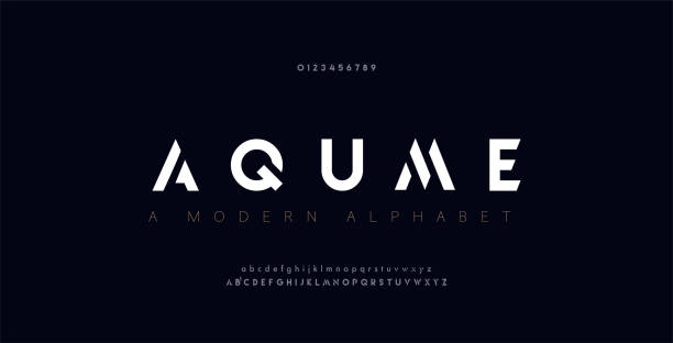 Abstract digital modern alphabet fonts. Typography technology electronic dance music future creative font. vector illustration Abstract digital modern alphabet fonts. Typography technology electronic dance music future creative font. vector illustration alphabet symbols stock illustrations