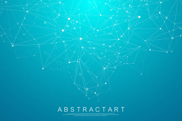 Abstract digital network connection structure on blue background. Artificial intelligence and engineering technology concept. Global network Big Data, Lines plexus, minimal array. Vector illustration. Abstract digital network connection structure on blue background. Artificial intelligence and engineering technology concept. Global network Big Data, Lines plexus, minimal array. Vector illustration computer network stock illustrations
