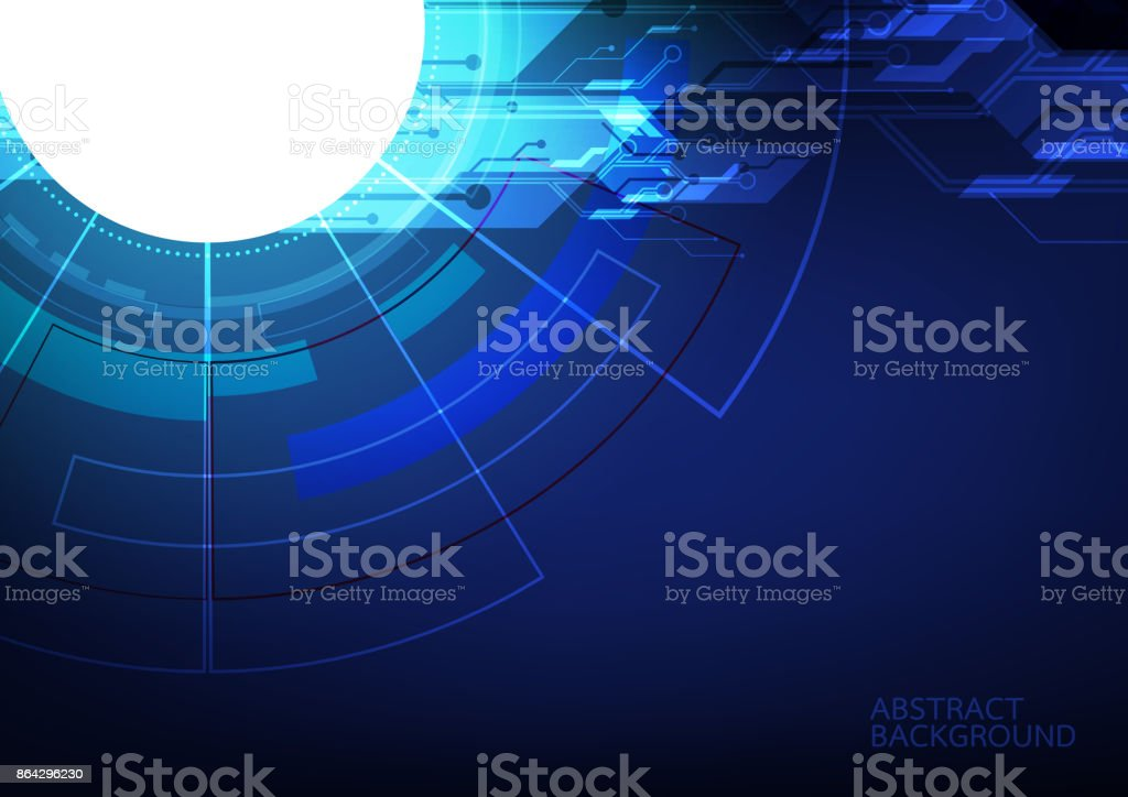 Abstract digital technology and communication concept. High technology computer innovation on the blue background. Vector illustration eps10. royalty-free abstract digital technology and communication concept high technology computer innovation on the blue background vector illustration eps10 stock vector art & more images of abstract