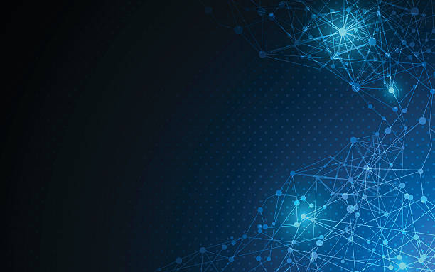 abstract digital texture pattern hi tech innovation concept background – Vektorgrafik