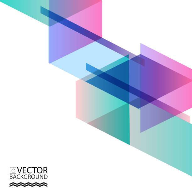 stockillustraties, clipart, cartoons en iconen met abstract geometrische trendy achtergrond van digitale trendy stijl. met de plek voor uw bericht. zowel zakenreizigers als tech presentatie, voorbladsjabloon - veelvlakkig