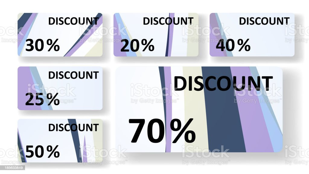 Abstract discount cards royalty-free stock vector art