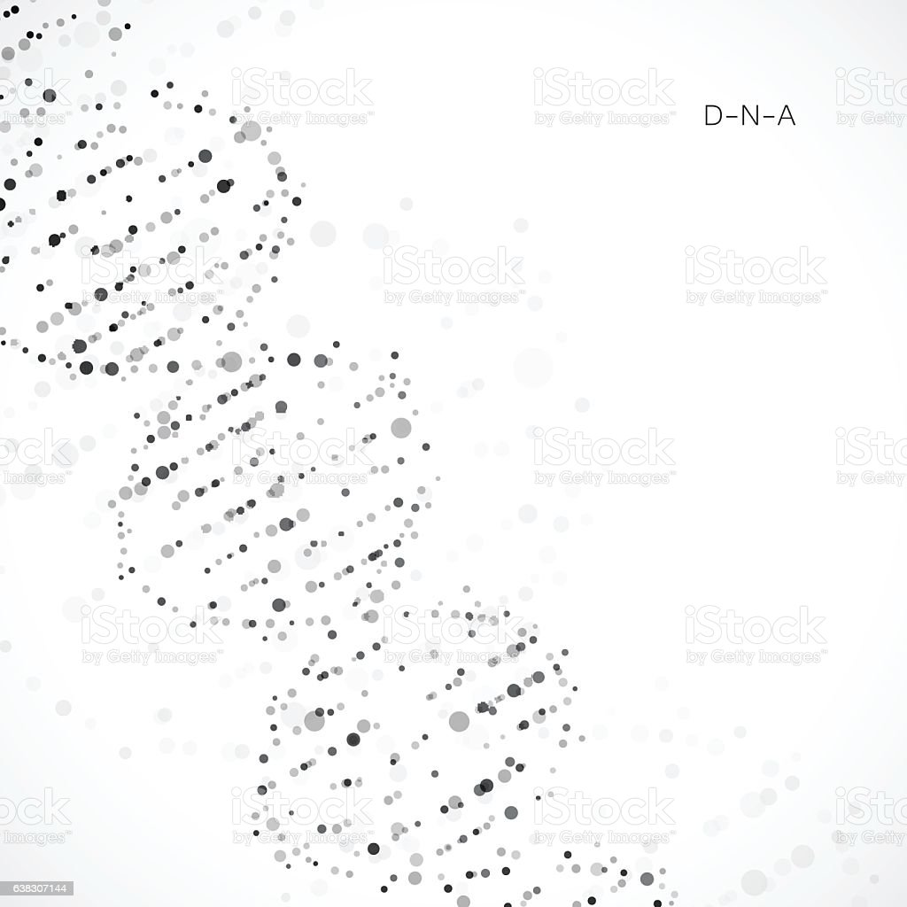Dna Model Wallpaper: Abstract Dna Background Vector Illustration Beautiful