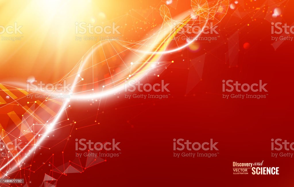 Abstract dna design vector art illustration