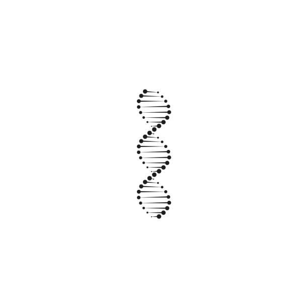 ilustraciones, imágenes clip art, dibujos animados e iconos de stock de icono de adn abstracto, elemento de diseño de logo vector - adn