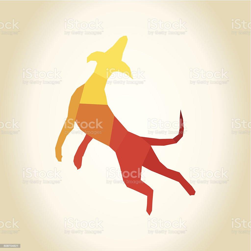 Abstract dog vector art illustration
