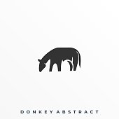 Abstract Donkey Illustration Vector Template. Suitable for Creative Industry, Multimedia, entertainment, Educations, Shop, and any related business.