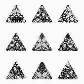 Abstract doodle triangle texture Pattern Icon