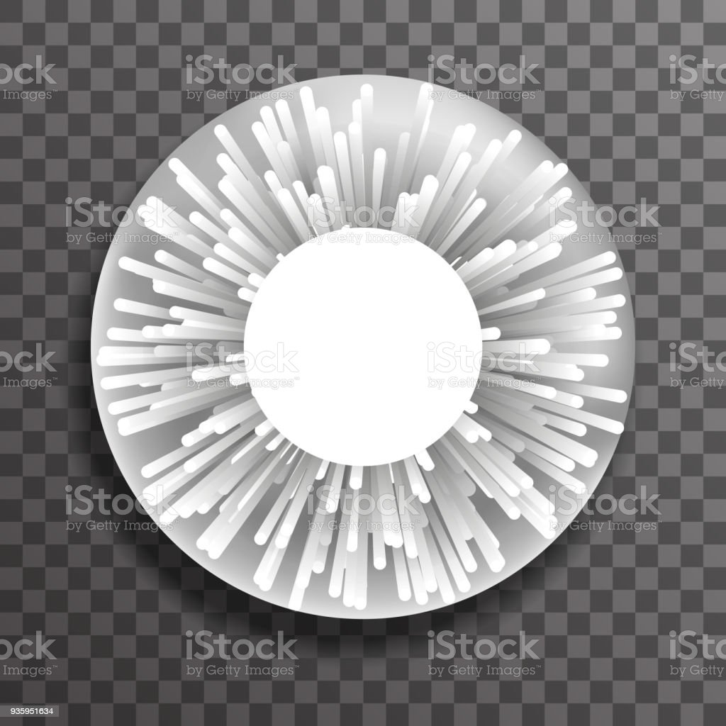 Abstract Dot Ray Sphere Explosion Template Transparent Background Design Vector Illustration Royalty Free