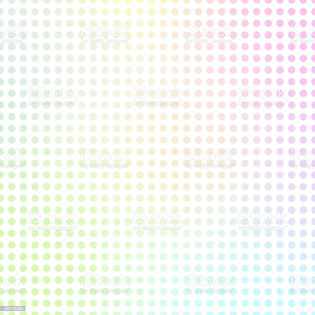 Abstract dots background. Rainbow colored texture. vector art illustration