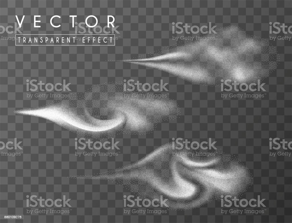 Abstract dots clouds, water spray. vector art illustration