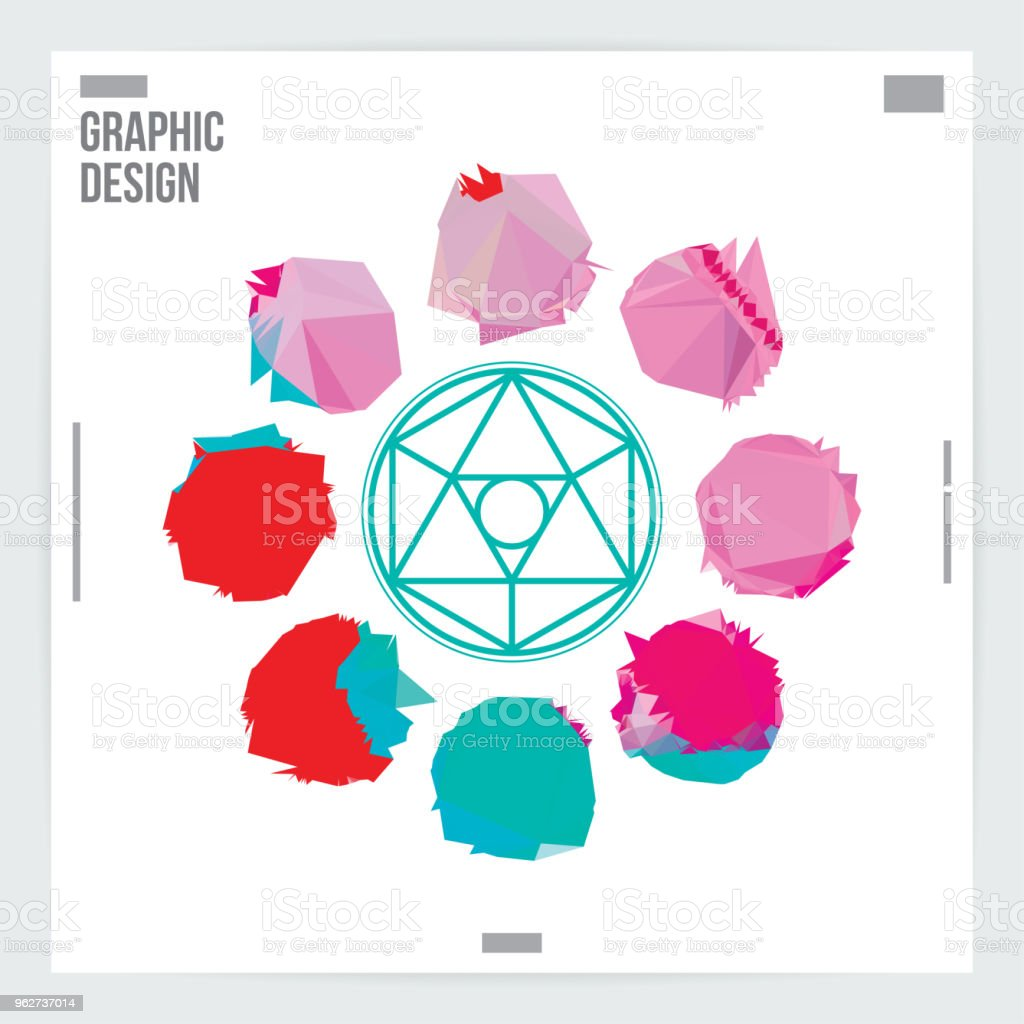 Abstract Dots Graphic Design Poster Layout Template - arte vettoriale royalty-free di Arte