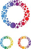 Abstract Dots Letter O Symbol