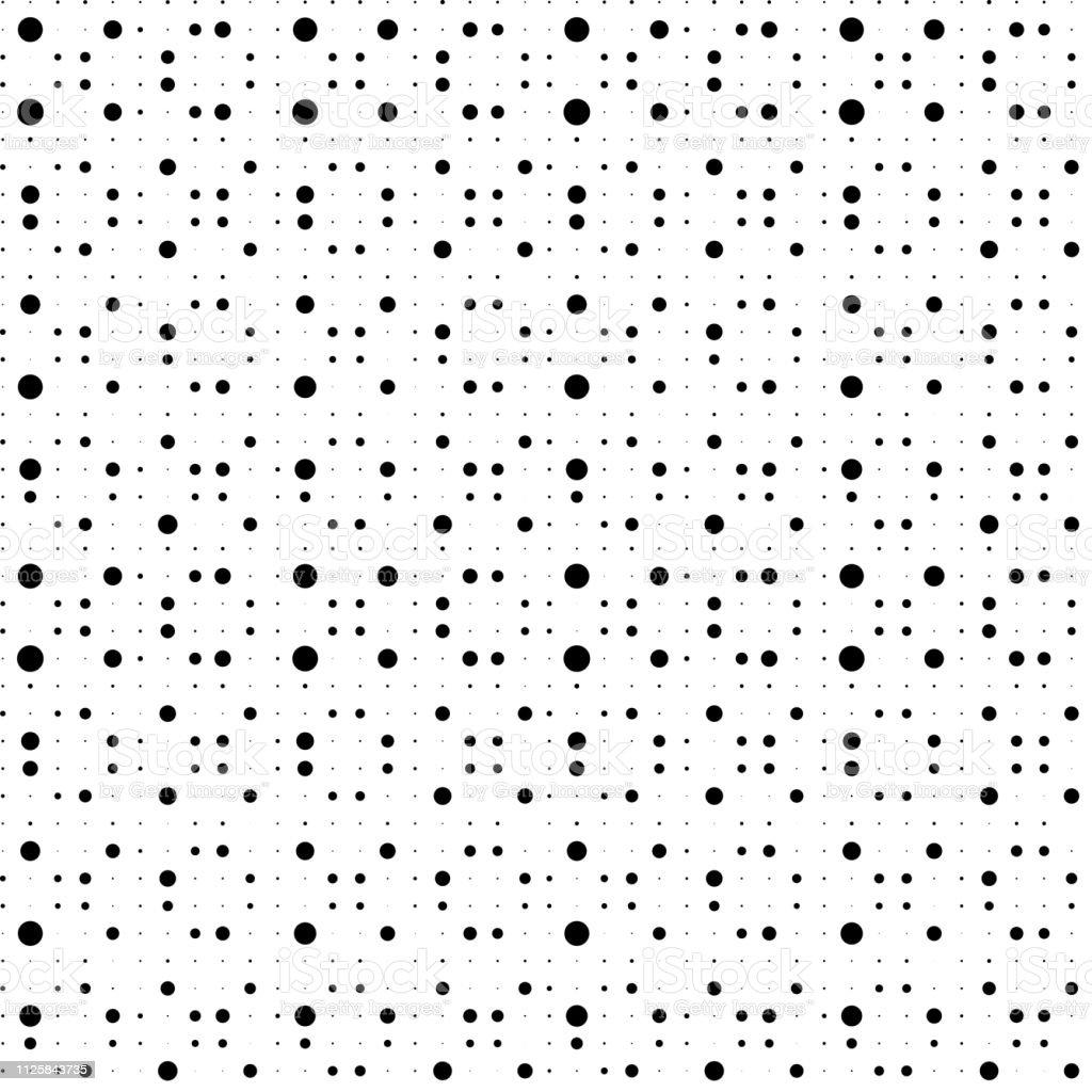 Nahtlose Muster Abstrakt Punkte Schwarz Weisse Tupfen Textur