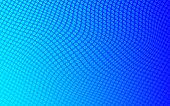 Vector Abstract Dotted Background Blue Color Wave Pattern