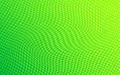 Vector Abstract Dotted Background Wave Pattern Green And Yellow Color