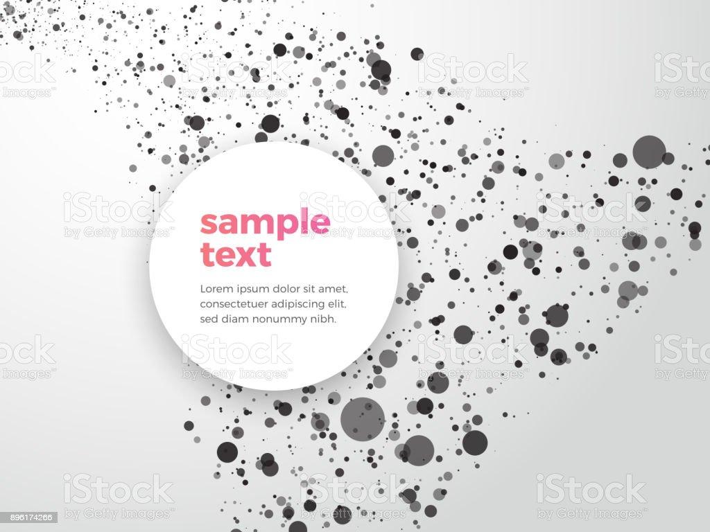 Zusammenfassung Hintergrund Mit Beispieltext Punktiert Stock Vektor