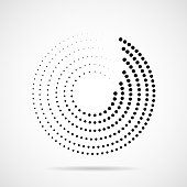 istock Abstract dotted circles. Dots in circular form 1018272116