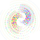 Dots, Abstract, Colorful, Halftone effect, Background