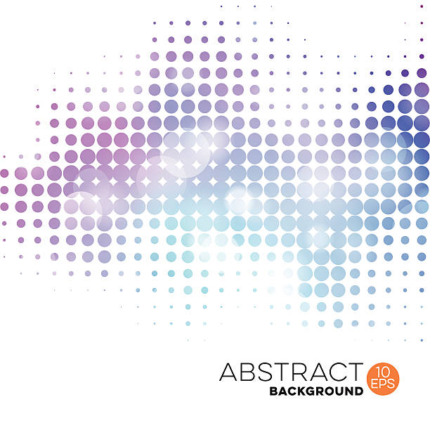 Abstract Dotted Defocused Background vector art illustration