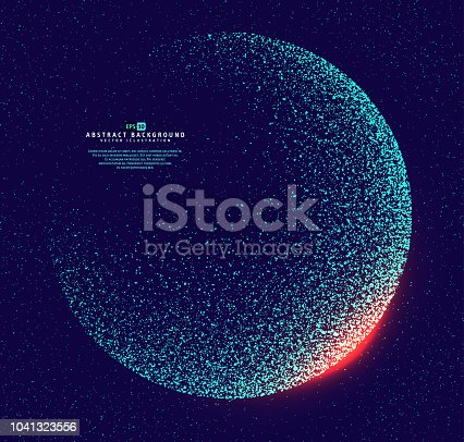 Abstract dotted globe earth. Earth futuristic technology abstract background illustration. Vector illustration eps-10.