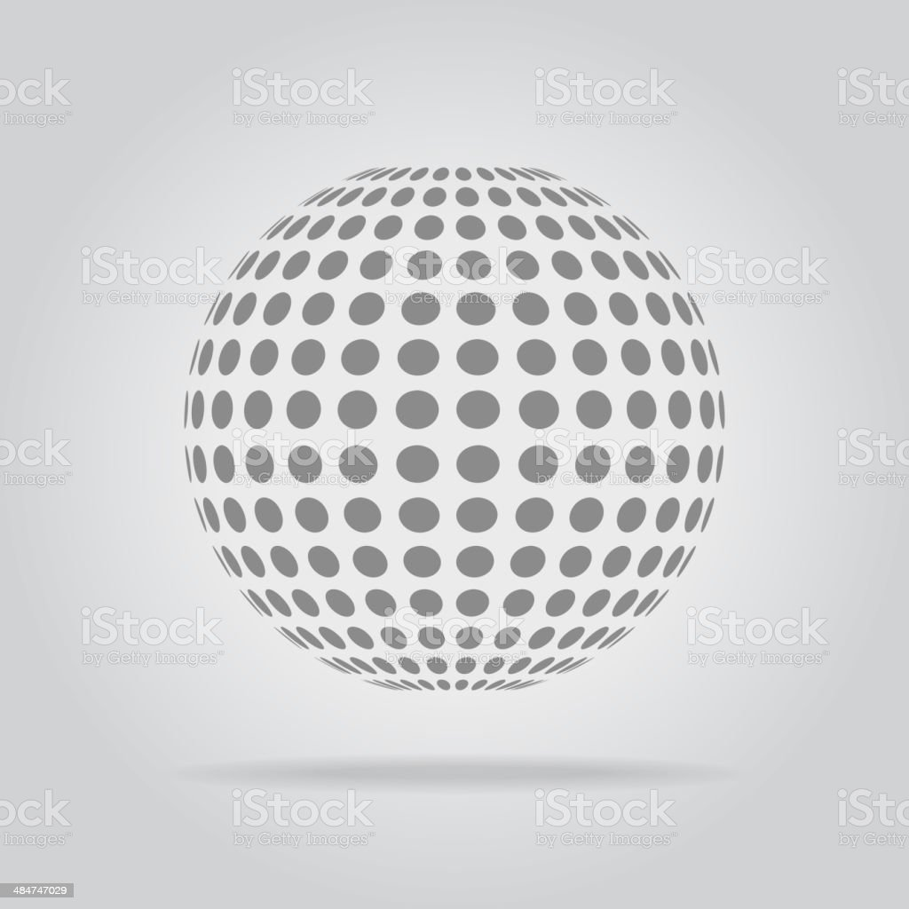 Abstract dotted sphere vector art illustration
