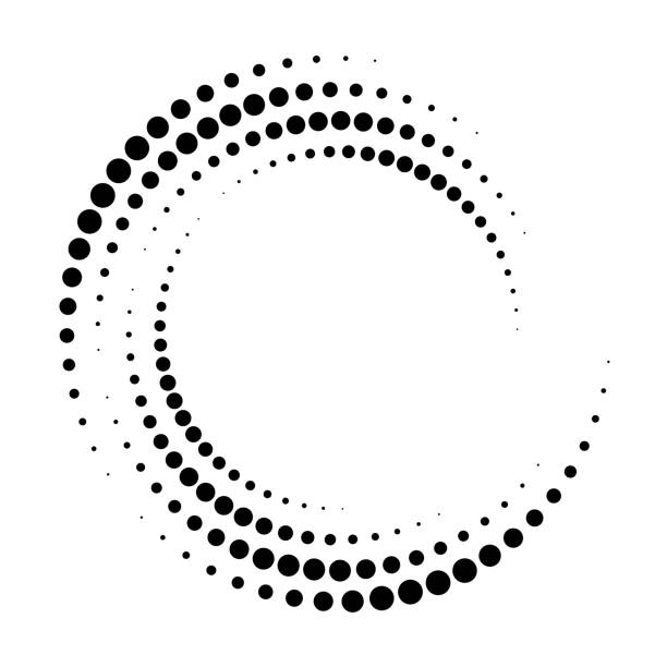 Abstract dotted vector background. Halftone effect. Spiral dotted background or icon Abstract dotted vector background. Halftone effect. Spiral dotted background or icon curve stock illustrations
