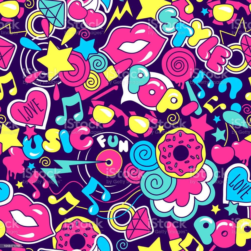 Abstrakt Malen Fur Tshirts Farbenfrohe Trendige Kunst Kuchen