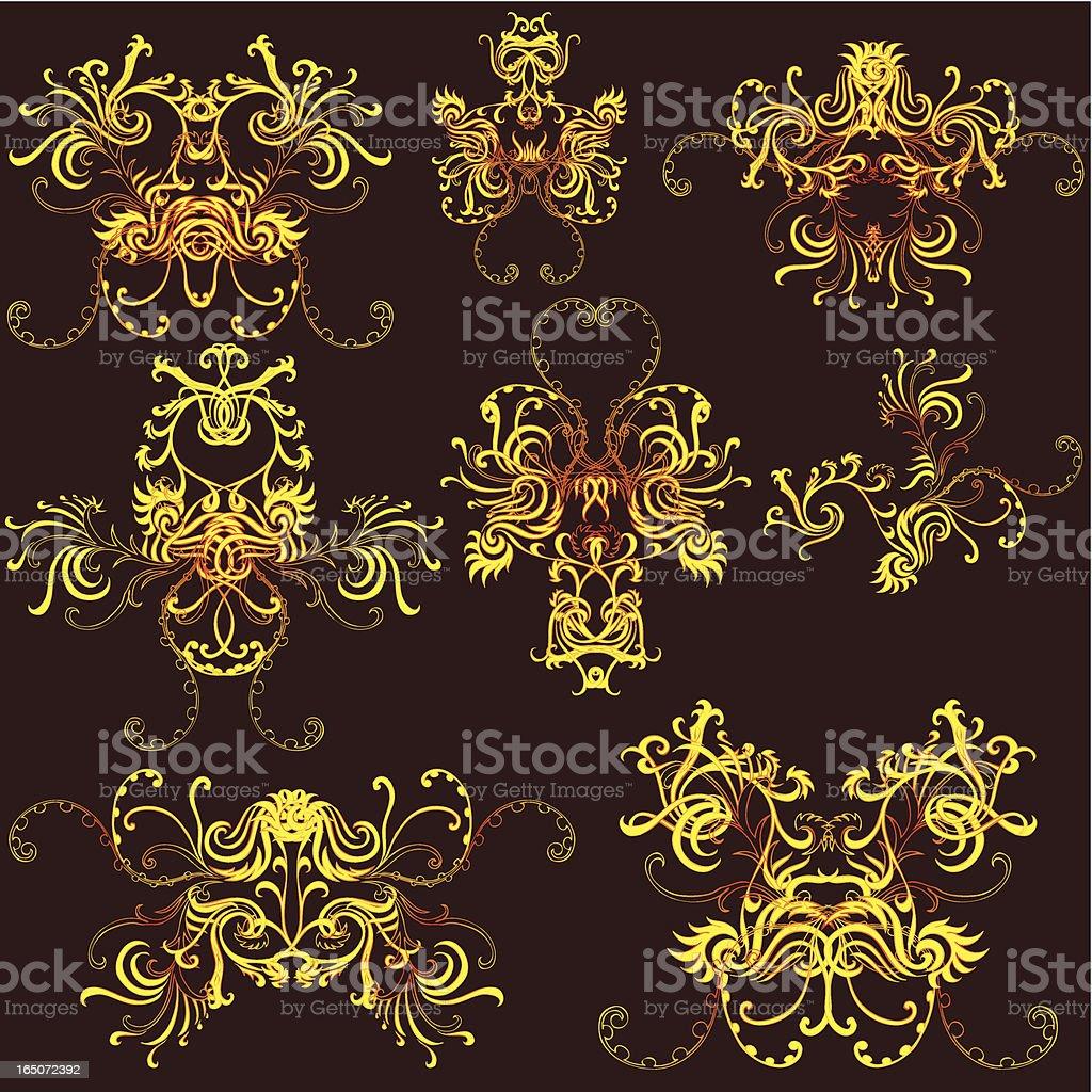abstract dream creatures vector art illustration