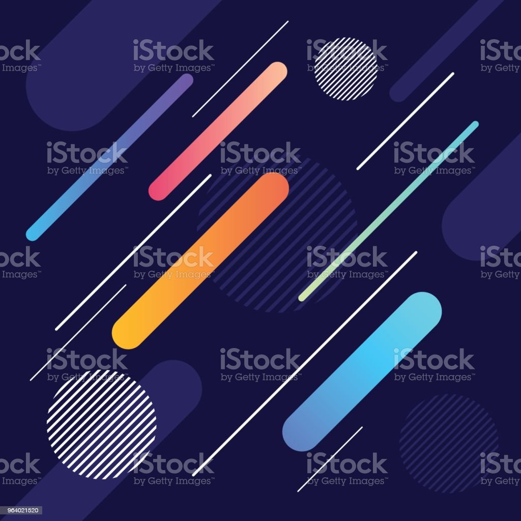 Abstract dynamic geometric shape and line pattern background - Royalty-free Abstract stock vector