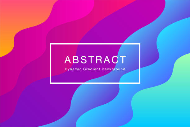 abstract dynamic gradient background illustration vector - artsy backgrounds stock illustrations