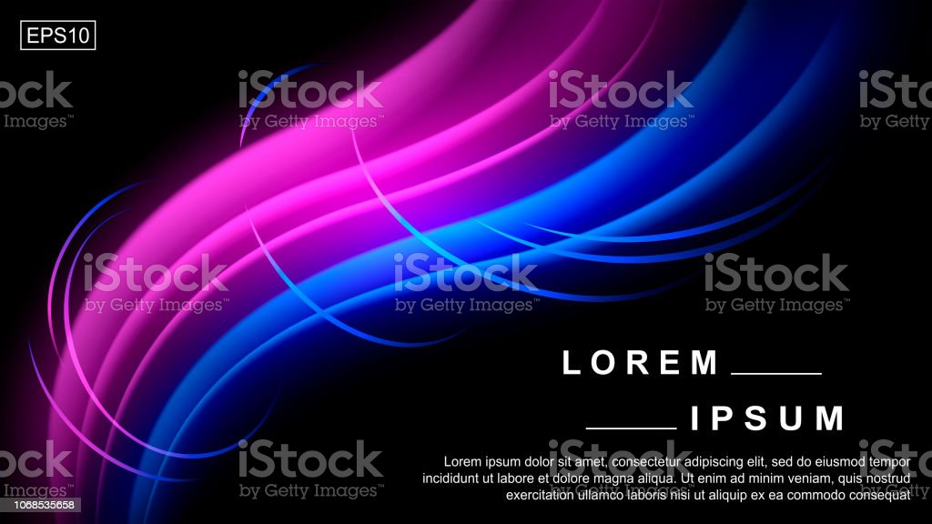 Abstract Dynamic Wallpaper Pink And Blue Luminous Waves On