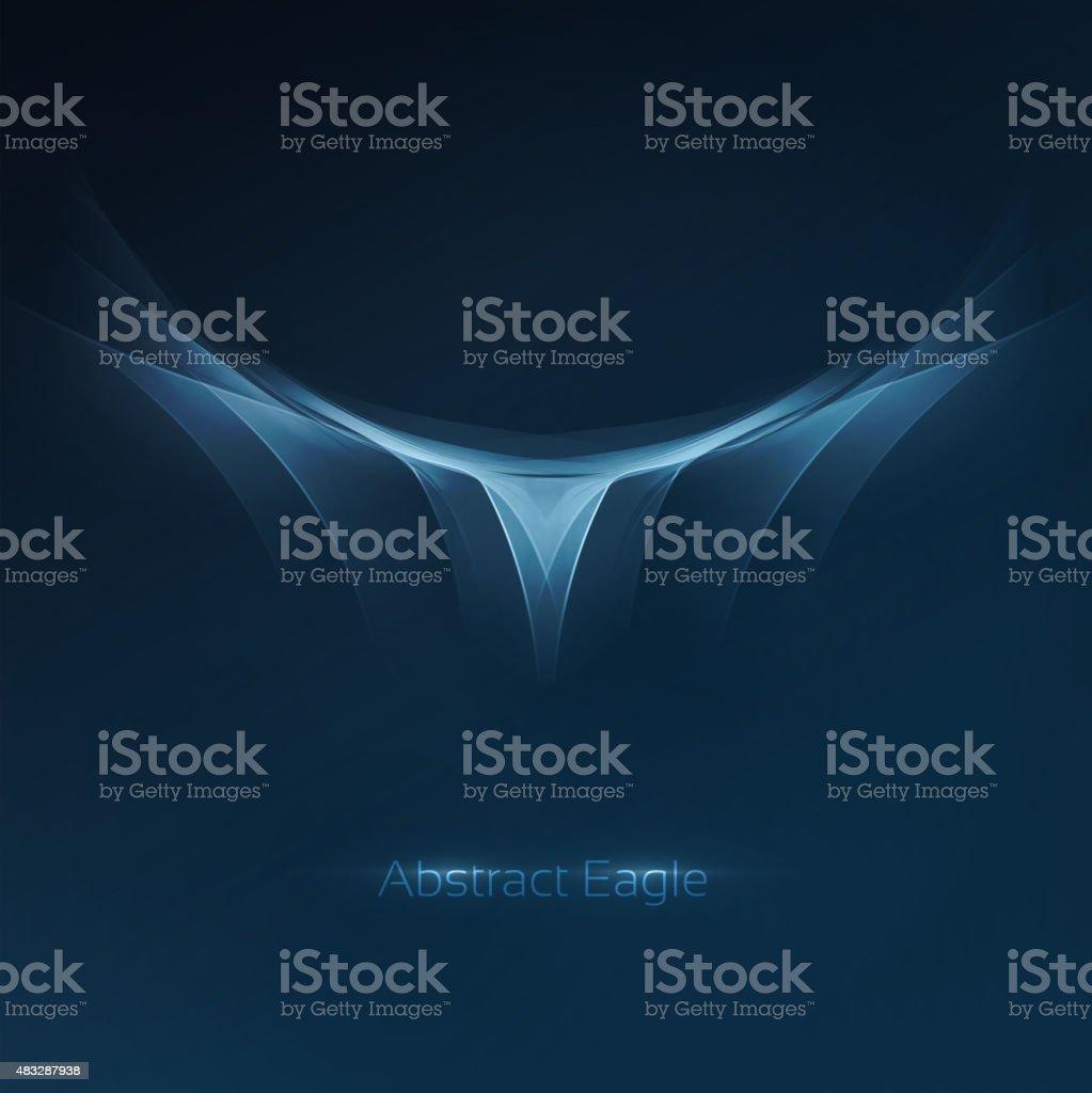 Abstract eagle symbol vector art illustration