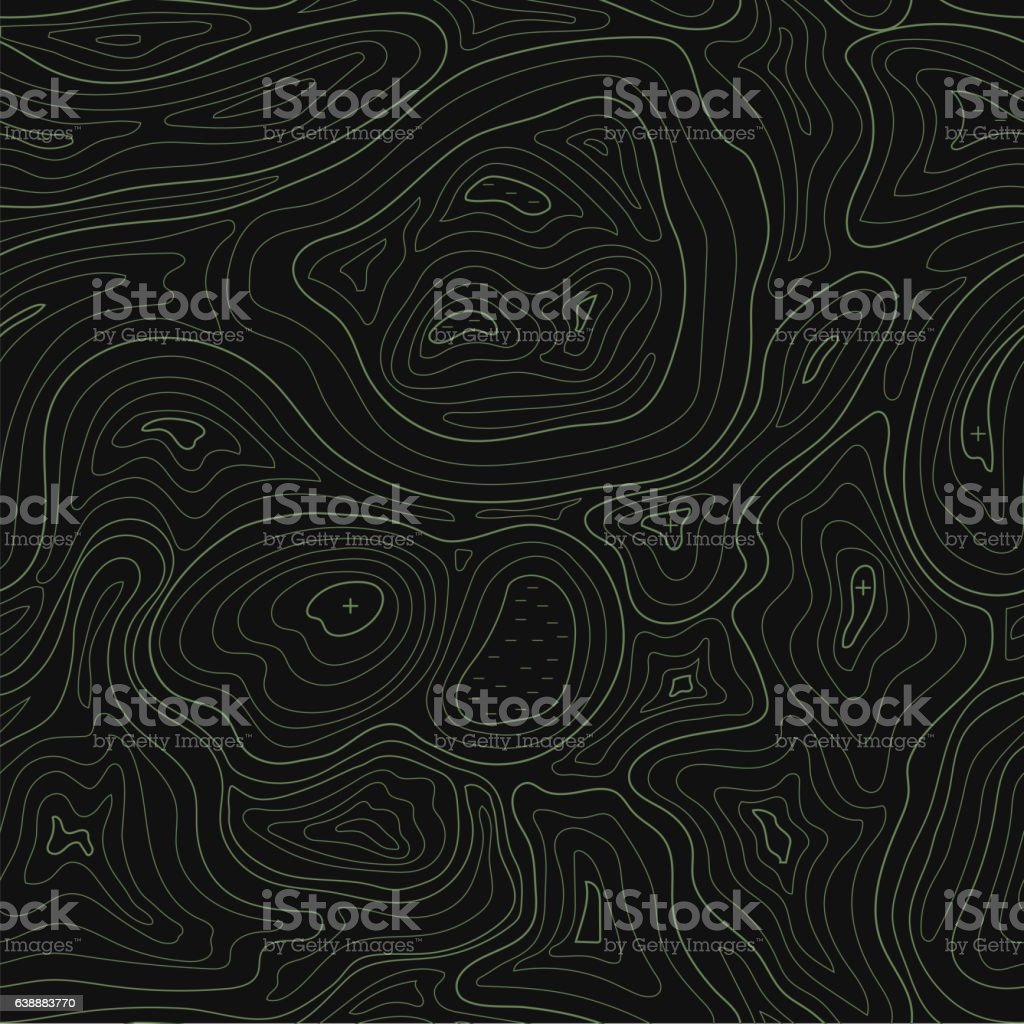 Abstract earth relief map seamless pattern Vector topographic background vector art illustration