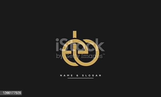 istock Abstract EB Alphabet Letter Logo Template 1266177525