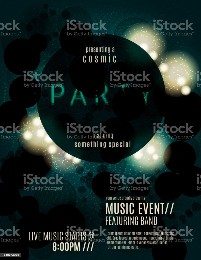 Abstract eclipse poster template vector art illustration
