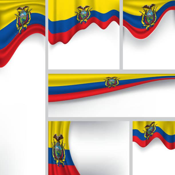 抽象エクアドルフラッグ、エクアドル共和国色(ベクター素材) ベクターアートイラスト