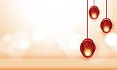 Abstract Eid Mubarak modern background design stock illustration
