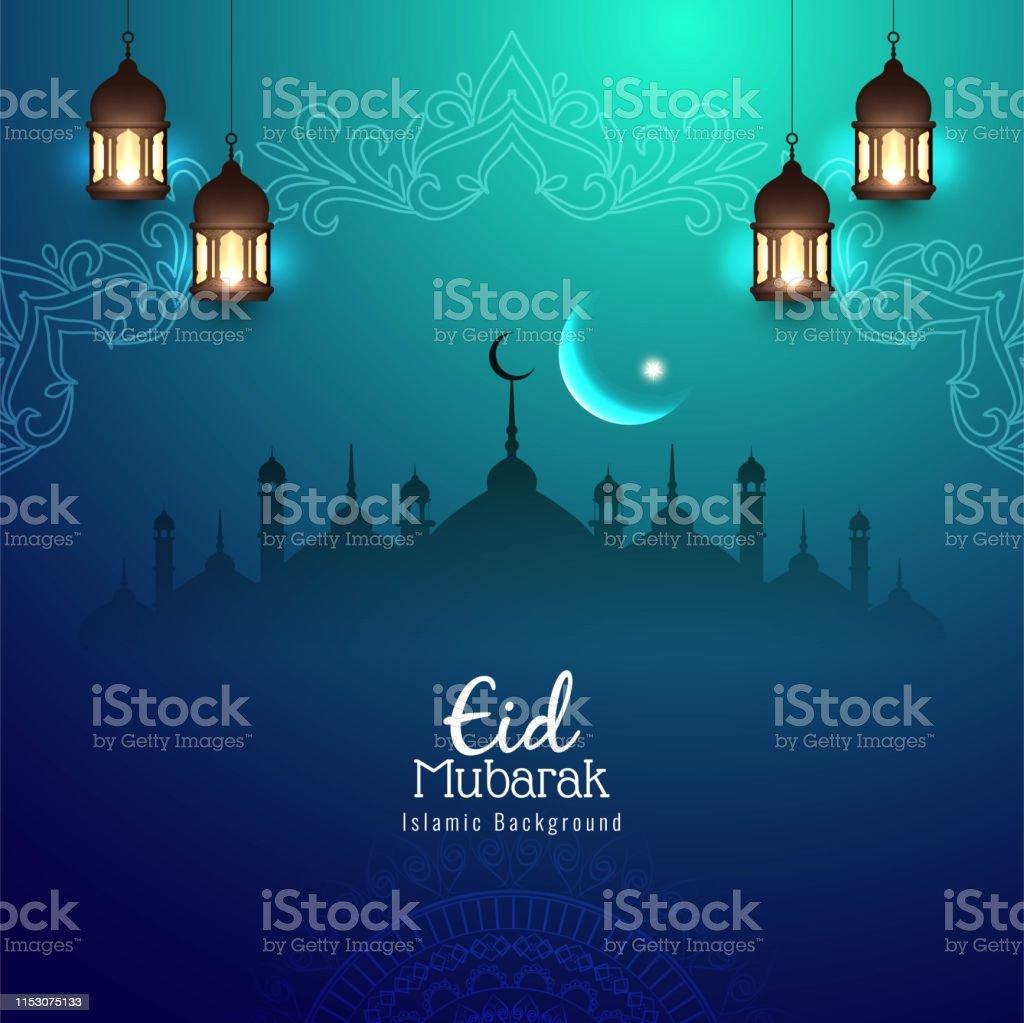 Abstract Eid Mubarak Religious Background Design Stock Illustration Download Image Now Istock