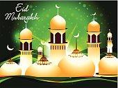 abstract eid mubarakh background