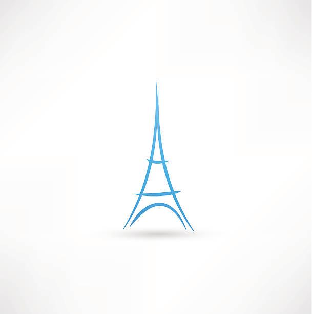 Abstract Eiffel Tower vector art illustration
