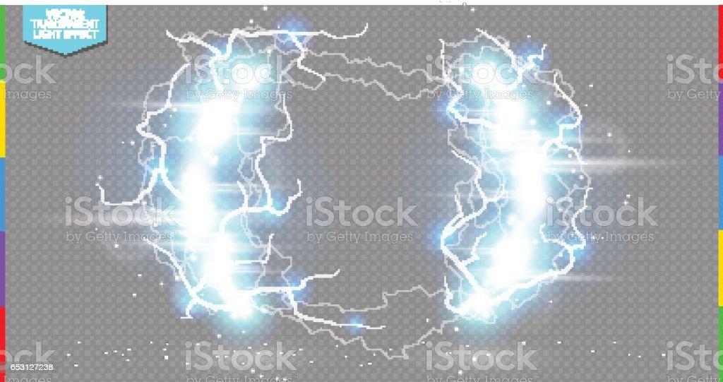 Abstrakte Elektrischen Wissenschaft Rahmen Leuchten Sie Grenze Mit ...
