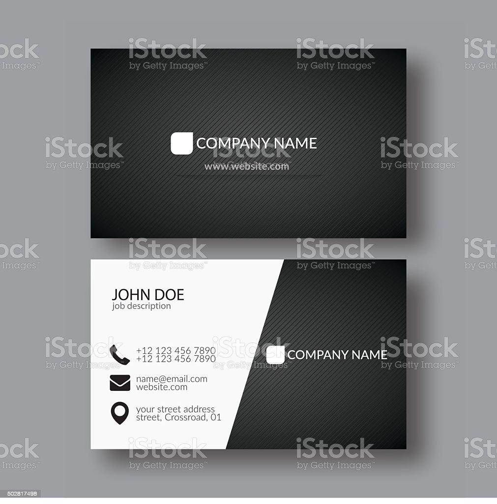 Abstract Elegant Business Card Template vector art illustration