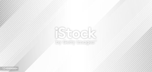 istock Abstract elegant white and gray background with diagonal stripes lines. 1249996664